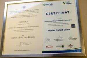 Certyfikaty i wyróżnienia dla pracowników Centrum Medycznego Eng-Med